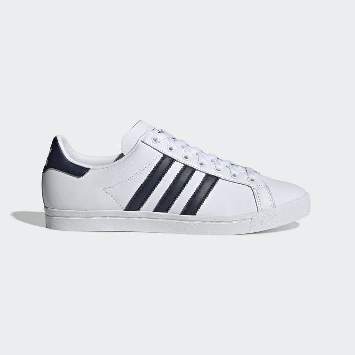 Baskets cuir coast star blanc, marine Adidas Originals | La ...