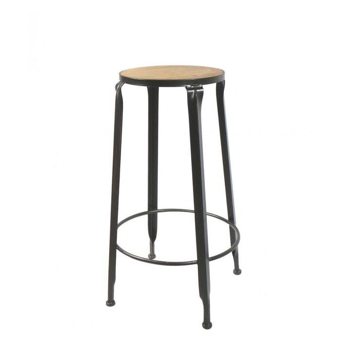 chaise de bar rond noir