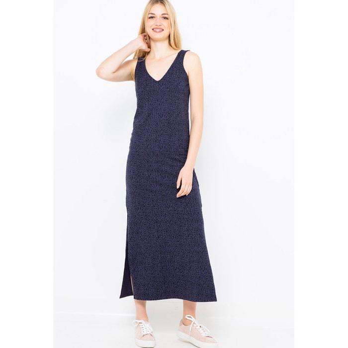 bas prix 58ac3 bb596 Robe longue imprimée coton mélangé bleu Camaieu | La Redoute