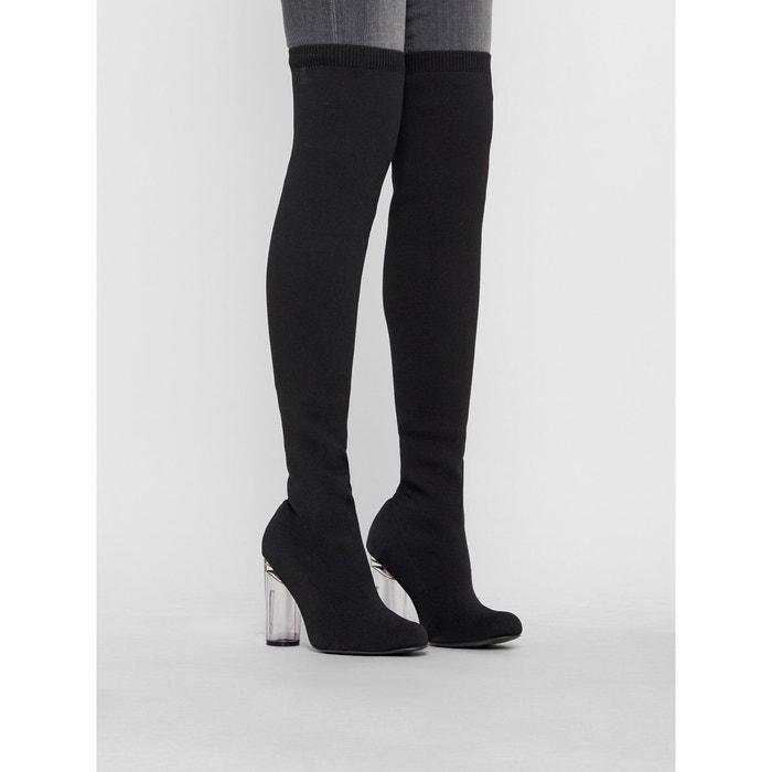 Bottes cuissardes velours noir black4 Bianco | La Redoute