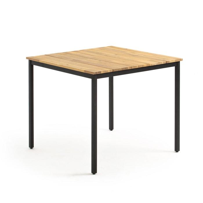 Table de jardin carrée hiba noir/bois La Redoute Interieurs ...