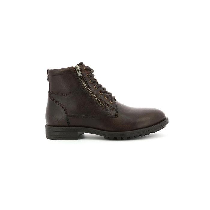 Boots brok KickersLa marron cuir homme Redoute ikXOPZu