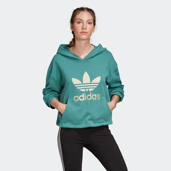 Sweat shirt à capuche premium vert Adidas Originals | La Redoute