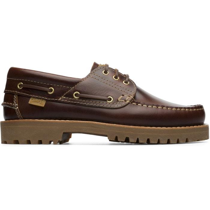 Chaussures bateau cuir nautico marron Camper | La Redoute