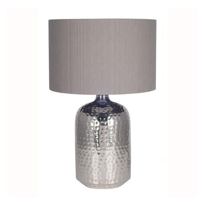 Metal Table Lamp. Brushed Nickel Finish