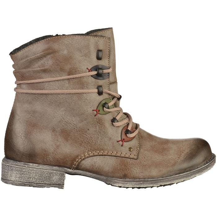 Bottines boots synthétique marron Rieker | La Redoute