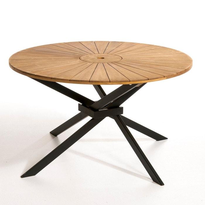 Table de jardin ronde, jakta naturel/noir Am.Pm | La Redoute