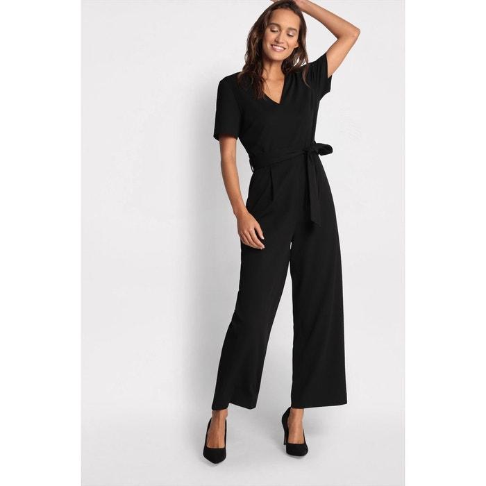 promotion meilleures chaussures haut de gamme pas cher Combinaison pantalon ceinturée noir Cache-Cache   La Redoute