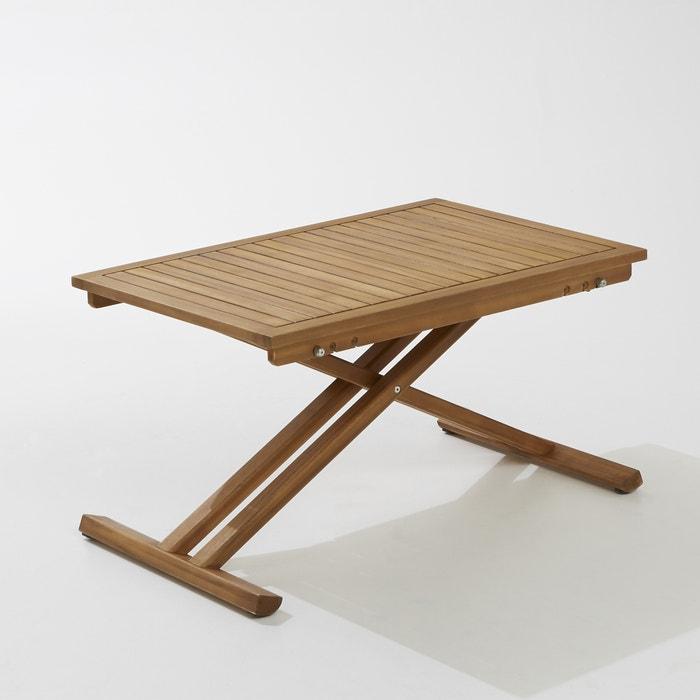 Table de jardin pliante en acacia et finition teck acacia La ...