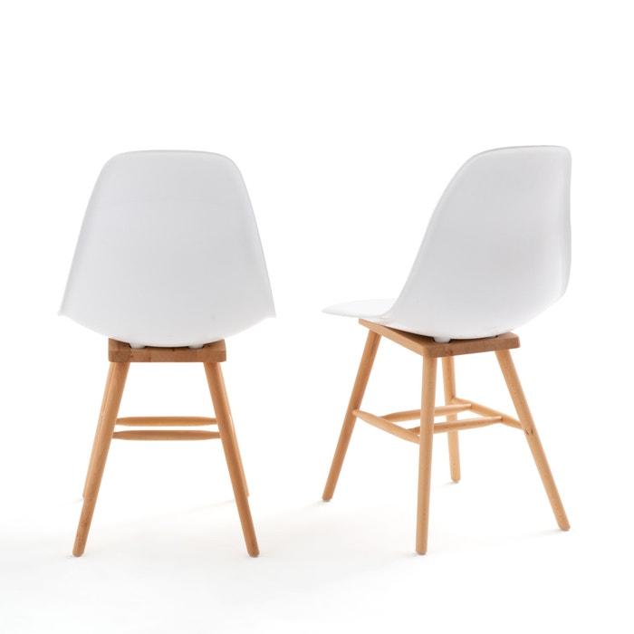 Sedie Moderne In Plastica.Confezione Da 2 Sedie Con Scocca In Plastica Jimi Bianco La