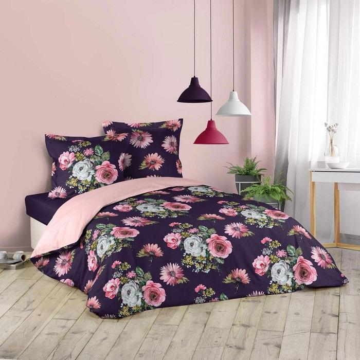 Sleepdown Willow Floral Blush Pink Parure de lit Ultra Douce et Facile dentretien hypoallerg/énique avec Housse de Couette r/éversible et taie doreiller pour lit Simple Polyester 135 cm x 200 cm
