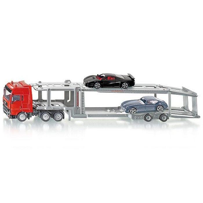 Modèle réduit en métal : Camion de transport de voitures