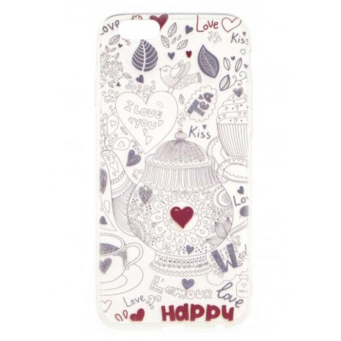 Coque Iphone 6 6s Dessin Fantaisie Coeurs Rouges Motif Fantaisie