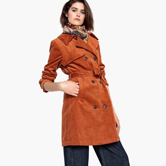 Water Repellent Cotton Corduroy Trench Coat