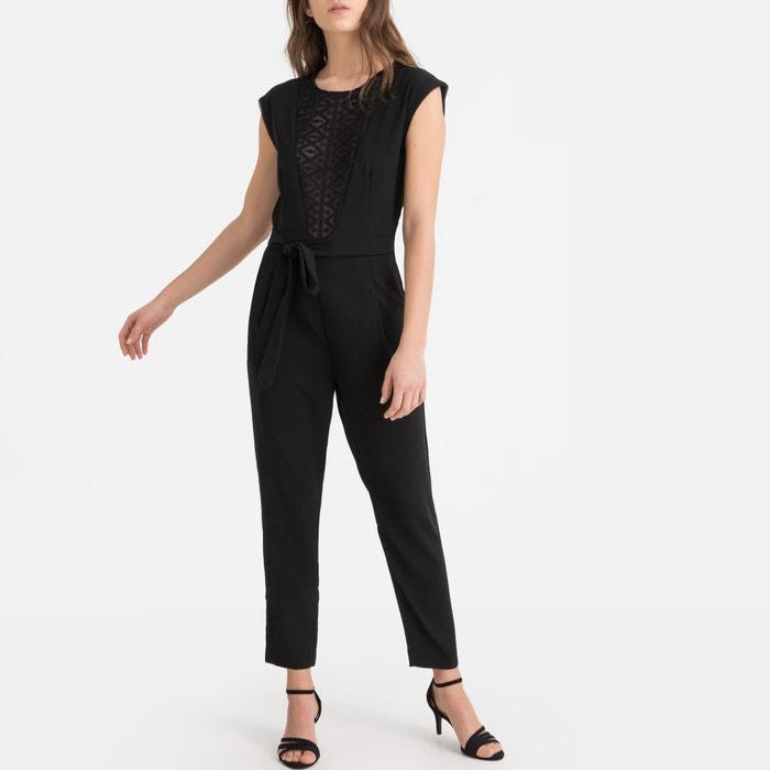 quality design de602 cb97d Overall mit spitze und tiefem ausschnitt, ärmellos schwarz ...