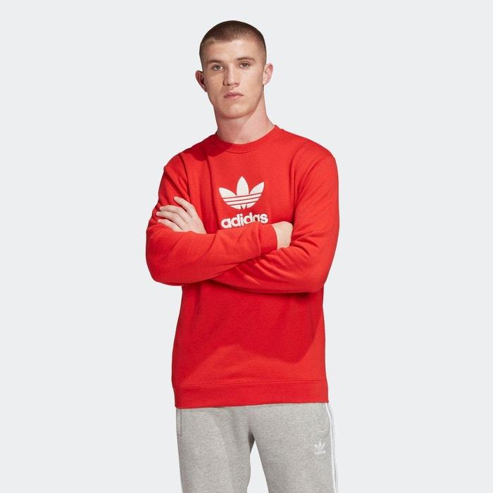Sweat shirt crew blanc Adidas Originals | La Redoute