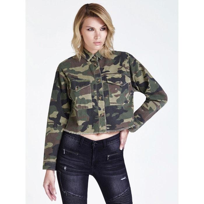 Veste imprimé camouflage camouflage Guess | La Redoute