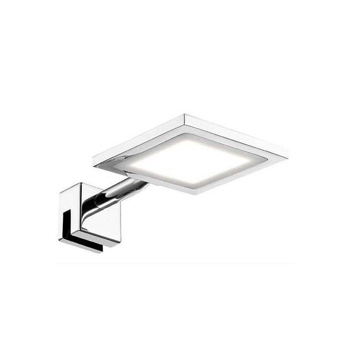 Eclairage miroir salle de bain led ip44 telline carré argent ...