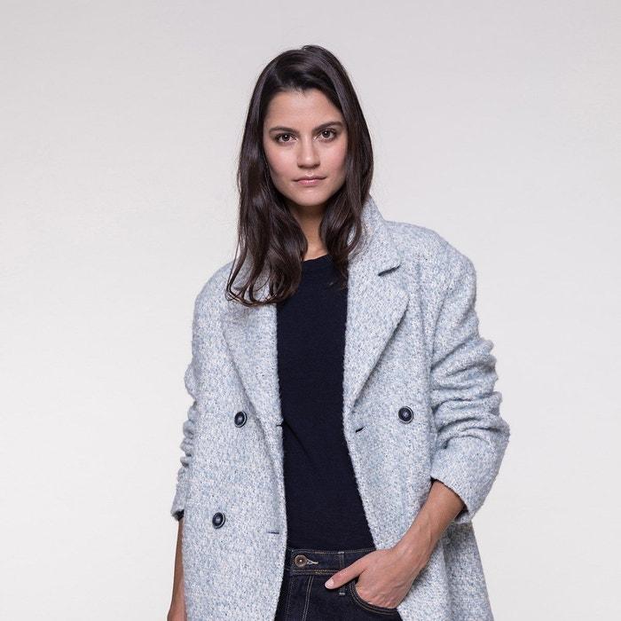 Trench and Coat Manteau avec Martingale en Lainage bouclé