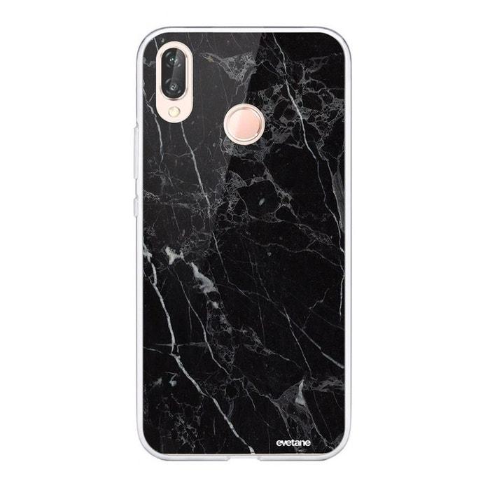 Coque huawei p20 lite souple silicone transparente marbre noir ...