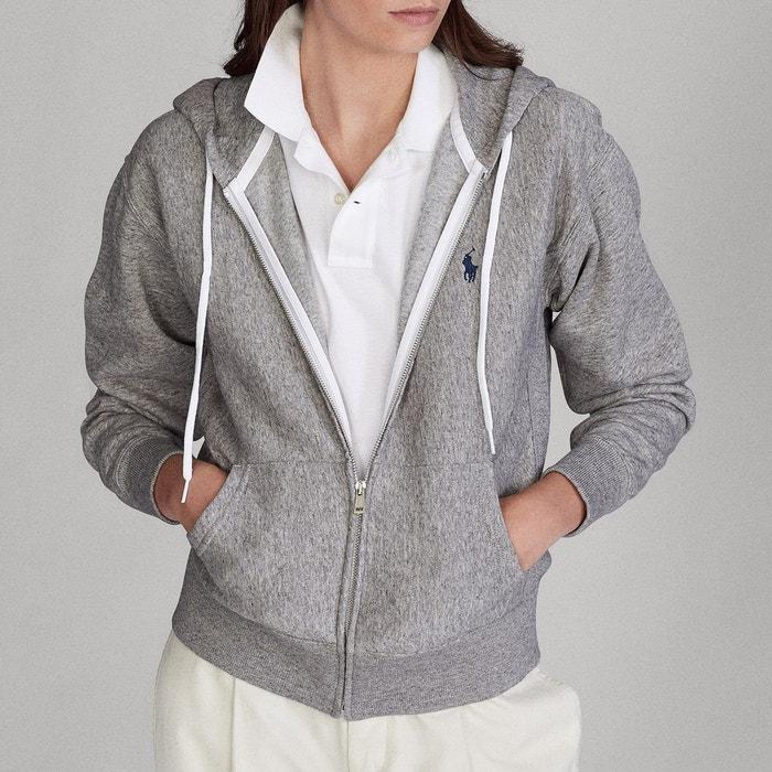 Polo Ralph Lauren Sweat zippé à capuche Rouge Femme Sweat