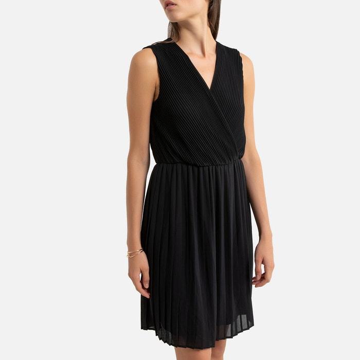 Kurzes Kleid Armellos Plissee Schwarz Vero Moda La Redoute