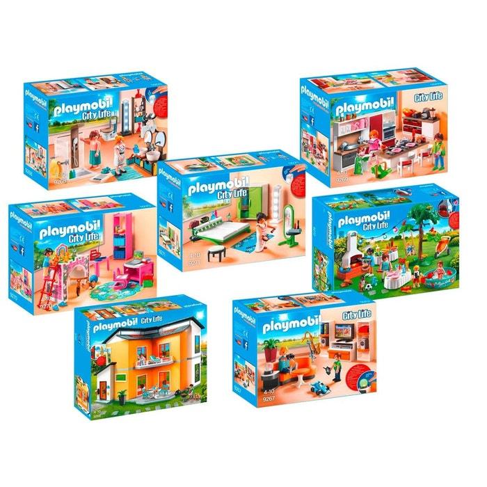 Playmobil Meubles Villa Moderne Set 9271 Chambre avec Espace ...