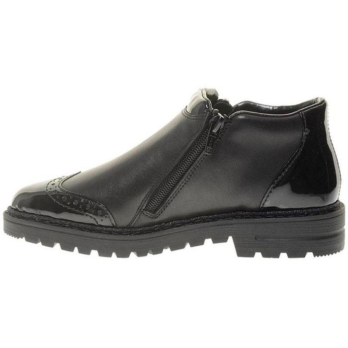 Bottines boots cuir noir Rieker | La Redoute