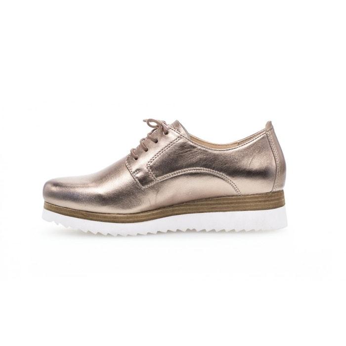 Sneaker imitation cuir noirblanc Gabor   La Redoute