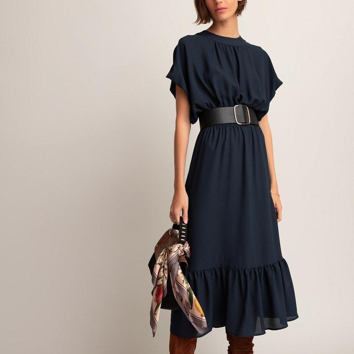 Robe Longue Manches Courtes Bleu Marine La Redoute Collections La Redoute
