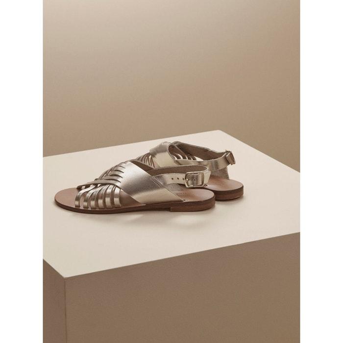 Sandales maxi bride cuir
