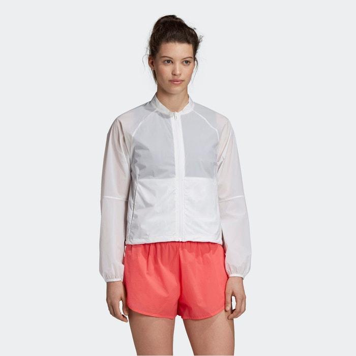 Veste courte manches coudes femme adidas Performance Blanc