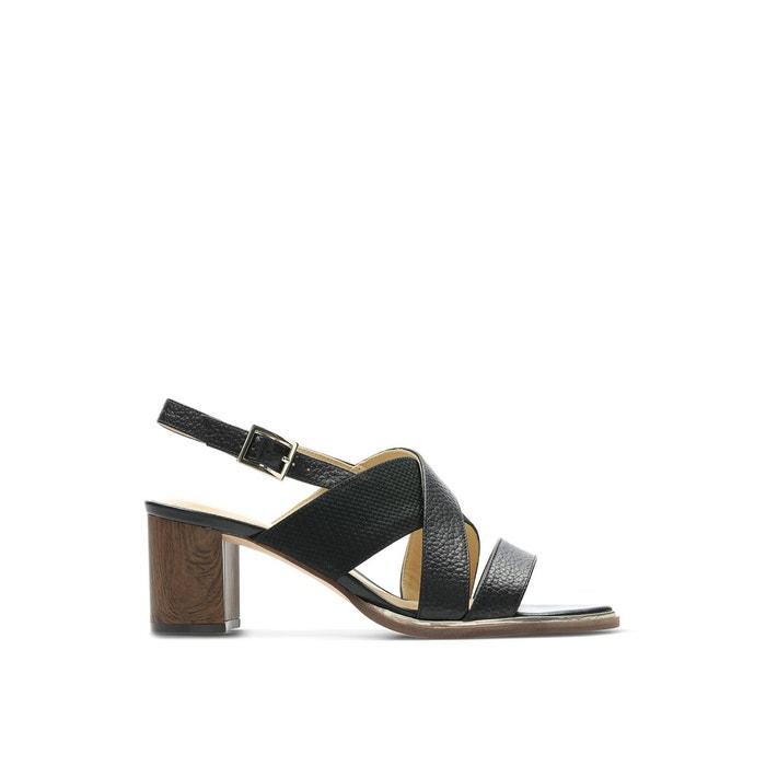 Sandales cuir ellis tilda noir Clarks | La Redoute