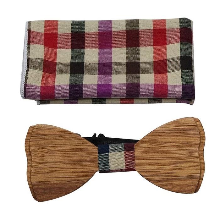 choisir le dernier Acheter Authentic magasin britannique Noeud papillon bois écossais