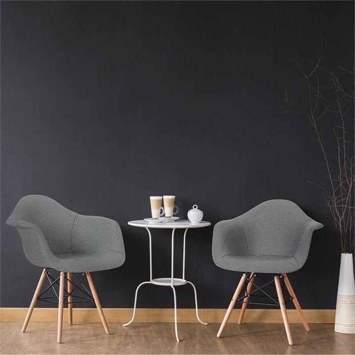 Visconti set de 2 chaises design à coque rembourrée noir