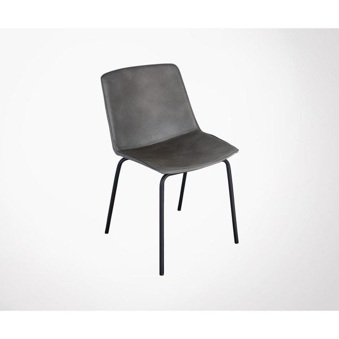 manger cuir à gris salle Chaise simili harona Meubles 4R3jLq5A