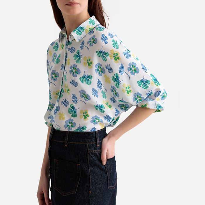 Camisa feminina Manga 34 Estampada Marca: A Collection