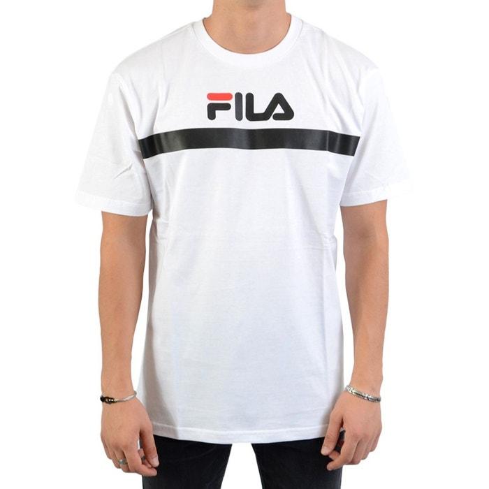 claquette fila fourrure, Fila TEE T shirt imprimé white