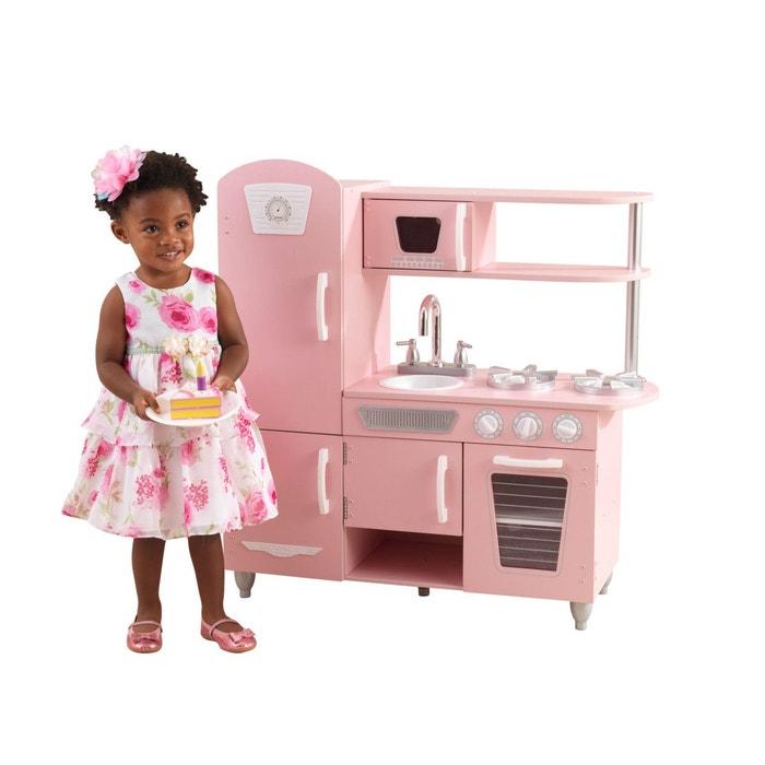 Cuisine Enfant En Bois Retro Rose Rose Kidkraft La Redoute