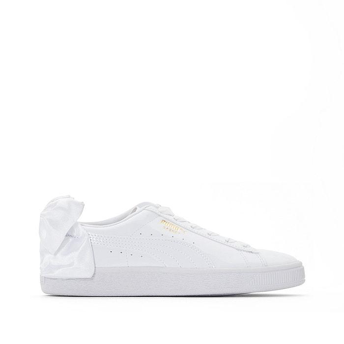 Baskets bow patent Puma blanc | La Redoute