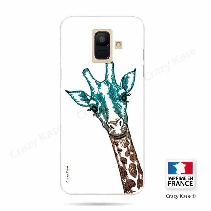 coque samsung a6 2018 girafe