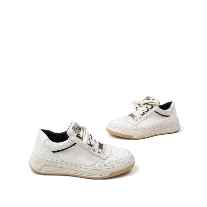 Baskets à lacets old cosmo Bronx blancnoir | La Redoute