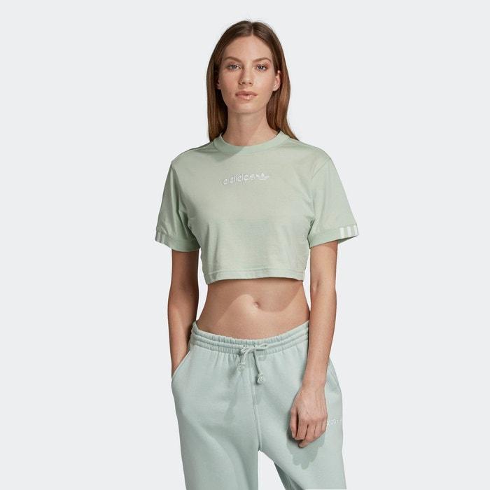 T shirt cropped vert Adidas Originals | La Redoute