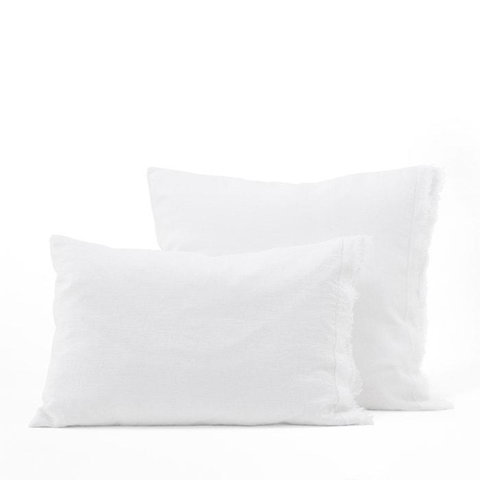 Estavelle fringed linen pillowcase Am