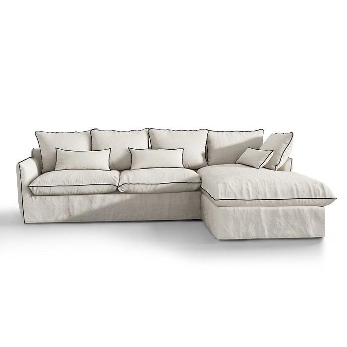 housse de canapé d'angle lin froissé odna la redoute