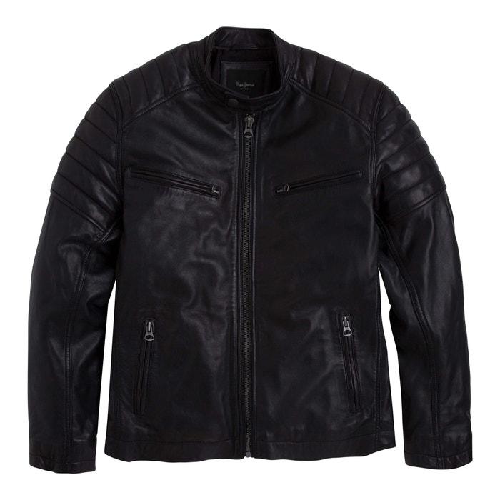 Productos verdadero negocio bebé Zip-Up Short Leather Biker Jacket