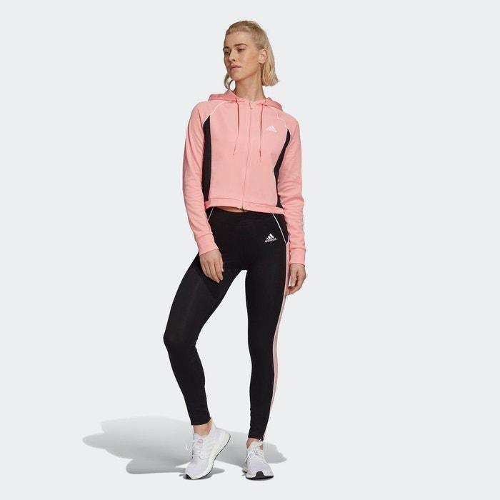Survêtement hoodie and tights rose Adidas Performance   La