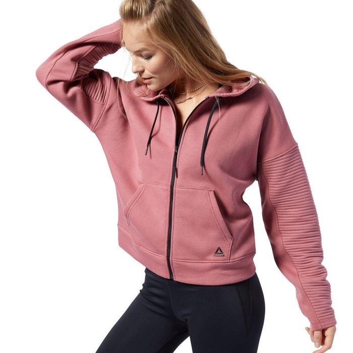 Sweat à capuche workout ready rose Reebok Sport | La Redoute