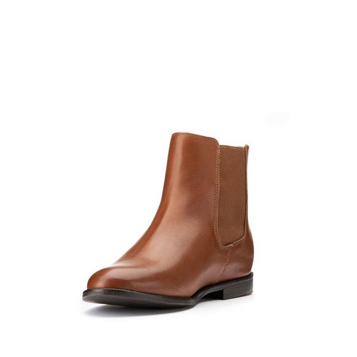 Boots chelsea en cuir La Redoute Collections | La Redoute