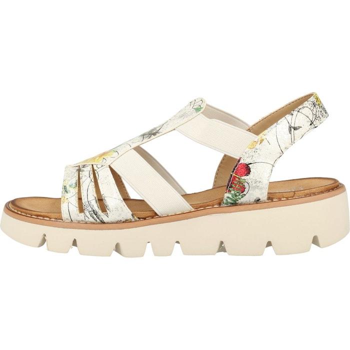 Sandales imitation cuir blanc Rieker | La Redoute